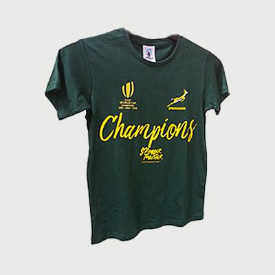 Springboks 2019 RWC Champions Tee- Ladies
