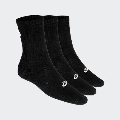 3PPK CREW BLACK SOCKS