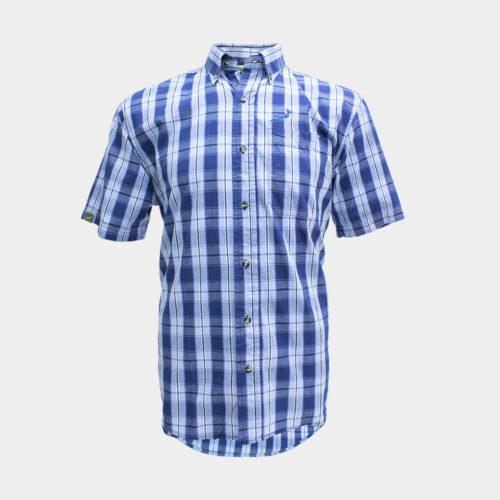 Springboks Button Up Shirt - Blue/White